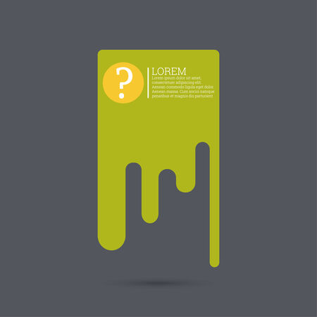questionail: Question mark icon. Help symbol. FAQ sign on a background. vector. speech bubble of flowing substance Illustration