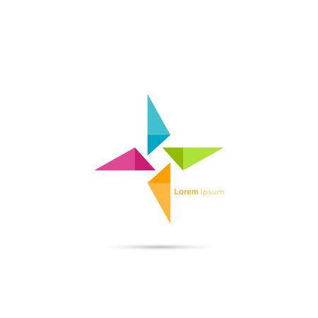 Triangle social beauty  vector logo icon. for media, mobile, public groups, alliances, environmental, mutual aid associations and other social welfare agencies. Illustration