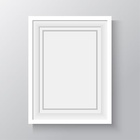 Witte frame voor schilderijen of foto's aan de muur. A4, A3 formaat papier ontwerp vector met ruimte voor tekst of advertentie.