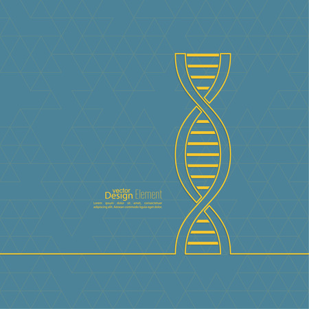 double helix: abstract background with DNA strand molecule structure and triangles. genetic and chemical compounds.