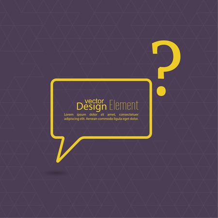 questionail: Icono de signo de interrogaci�n. S�mbolo de Ayuda. FAQ signo sobre un fondo amarillo. vector Vectores