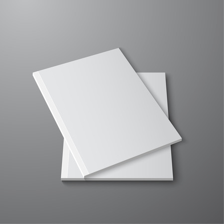 magazine template: Blank empty magazine or book or booklet, brochure, catalog, leaflet, template  on a gray background. vector