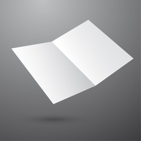 void: Blank empty magazine or book or booklet, brochure, catalog, leaflet, template  on a gray background. vector