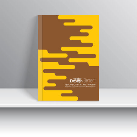 blank magazine: Magazine Cover with schematic particle. For book, brochure, flyer, poster, booklet, leaflet, cd cover design, postcard, business card, annual report. vector illustration. abstract background Illustration