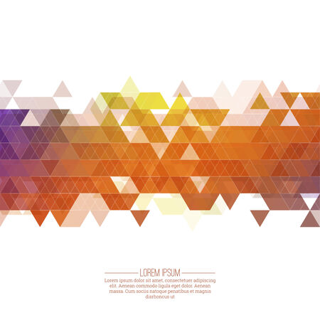 diamond background: Creative abstract triangle pattern. Polygonal mosaic  background. Hipster cover colorful, vibrant. For packaging, fabric, websites, printing, booklet, flyer, banner, mobile app, annual report template Illustration