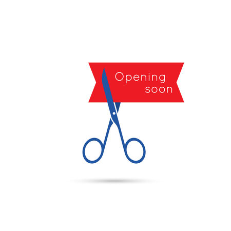 cut up: Scissors cut the red tape. The concept of the project, start up, business. Opening soon.