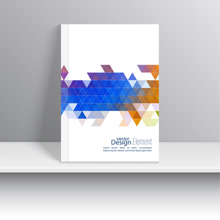 Magazine Cover with line, triangles. For book, brochure, flyer, poster, booklet, leaflet, cd cover design, postcard, business card, annual report. vector illustration. abstract background