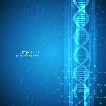 acido: Fondo abstracto con estructura cadena de ADN molécula. compuestos genéticas y químicas