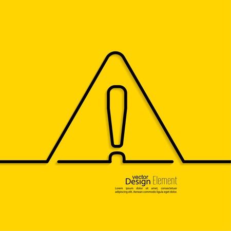 dangerous: Exclamation mark icon. Attention sign icon. Hazard warning symbol  in yellow background. vector