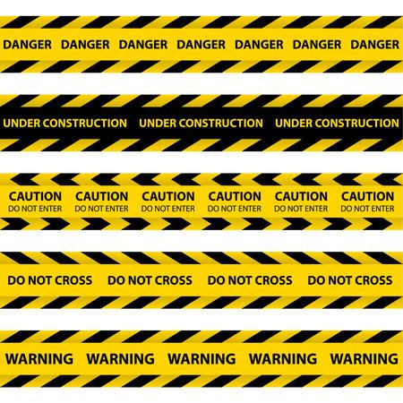 murder scene: Conjunto de cintas de barrera amarillo, cintas de polic�a, l�nea de Precauci�n y cintas de peligro. No cruce.
