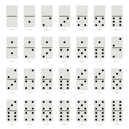 old fashioned: Collection of old fashioned domino set. vector