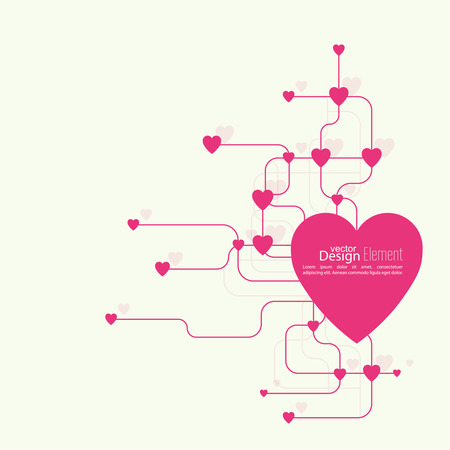 volunteers: Heart with links. The concept of social connections, help charity, network of health facilities. volunteer assistance. Card for Valentines Day. symbol donate