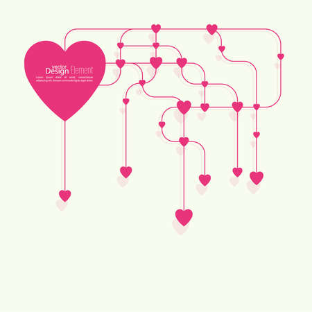 health facilities: Heart with links. The concept of social connections, help charity, network of health facilities. volunteer assistance. Card for Valentines Day. symbol donate