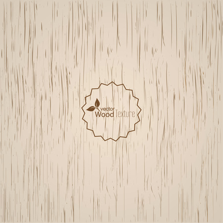 oak wood: Light wood background. Panel with a fibrous structure of the tree. Wooden texture. Vector