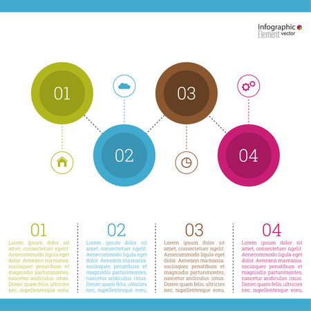 infochart: Comparative chart with templates for presentation, informative forms. Option. Infographic for  annual report, statistics, infochart, advertising, web button, explanation. Process step by step. analyze Illustration