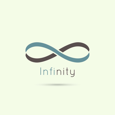 Infinity sign from the colored stripes of tape. emblem endless. The concept of eternity