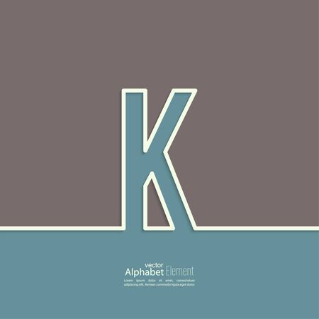 letter alphabet: The letter K of the alphabet. abstract background. Outline.