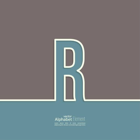 r: The letter R of the alphabet. abstract background. Outline. Illustration