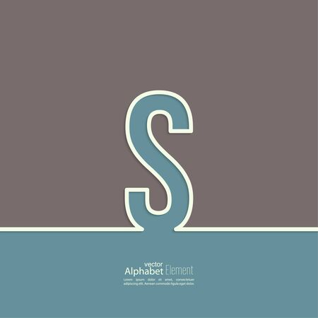 lettre s: La lettre de l'alphabet S. fond abstrait. Outline.