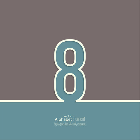 information symbol: The number 8. eight. abstract background. Outline.