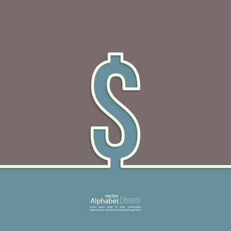 dollar sign: Abstract background with a dollar sign. usd. Outline.