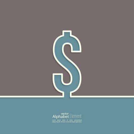 signos de pesos: Resumen de fondo con un signo de dólar. dólar estadounidense. Esquema.