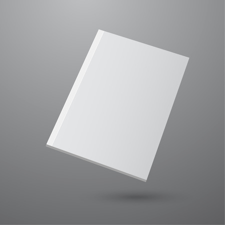 magazine: Blank empty magazine or book or booklet, brochure, catalog, leaflet, template  on a gray background. vector