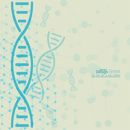 compounds: Abstract background with DNA strand molecule structure. genetic and chemical compounds