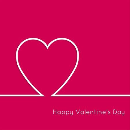 st  valentine's day: Abstract background with heart. Outline. St. Valentine\s Day.