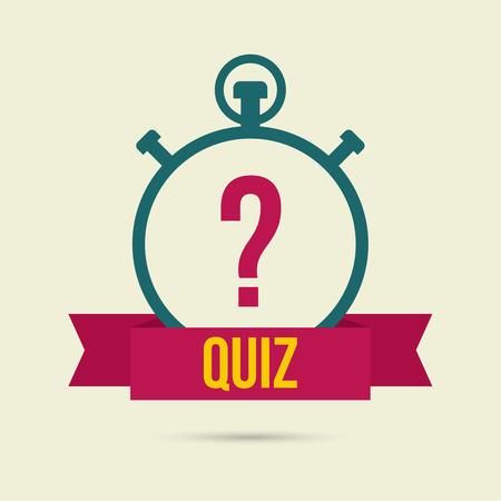 質問のタイマー。クイズ。コンセプトは、質問の答えです。モバイル アプリケーションのリボンの付いたアイコン