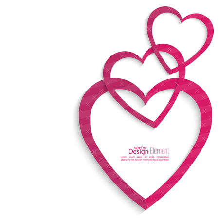medical clinic: Abstract background with heart. St. Valentines Day.Logo Medical Clinic, Cardiology