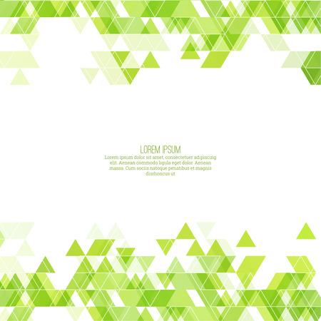 tri�ngulo: Patr�n de tri�ngulo abstracto creativo. Fondo de mosaico poligonal. Cubierta verde colorido, vibrante. Para el envasado, la tela, sitios web, impresi�n, folleto, volante, bandera, aplicaci�n m�vil, plantilla de informe anual