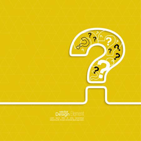 물음표 아이콘입니다. 도움말 기호. 노란색 배경에 질문 기호. 벡터