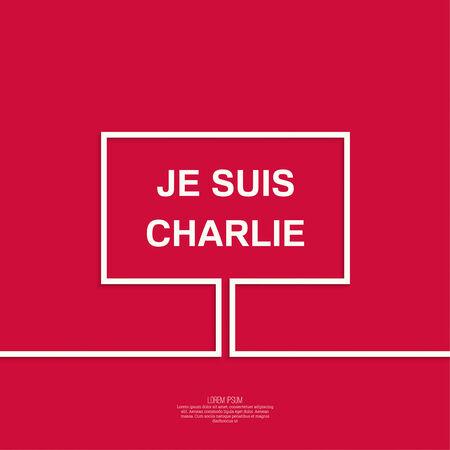 메달: 파리에서 연대의 상징입니다. 이인제는 찰리를 SUIS. 찰리입니다. 현수막, 배너, 벡터 아이콘 일러스트