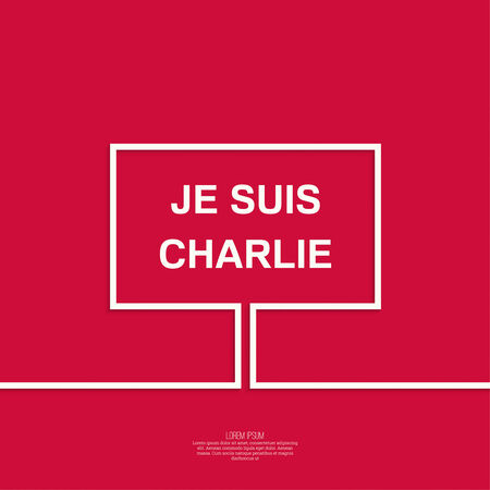 massacre: Symbol of solidarity in Paris. Je suis charlie. I am Charlie. Placard, banner, vector icons Illustration