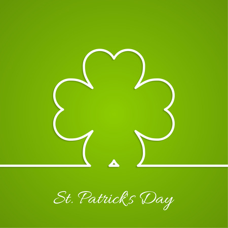 good luck: Abstract background with clover quatrefoil. Good luck and fortune. St. Patrick Day. Outline.