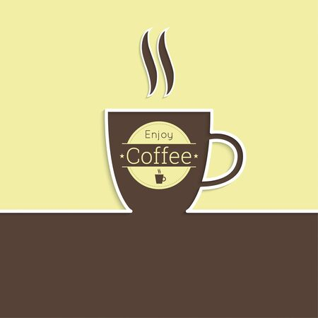 coffeehouse: Abstract background with a cup of coffee. Coffee house. for menu, restaurant, cafe, bar, coffeehouse. Outline