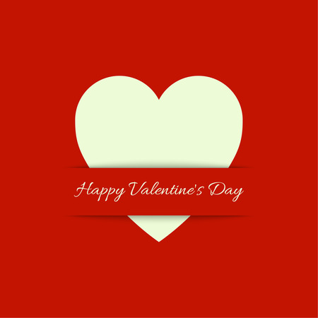st  valentine's day: Lettering. St. Valentines Day. Red Abstract background with heart. Symbol of love.