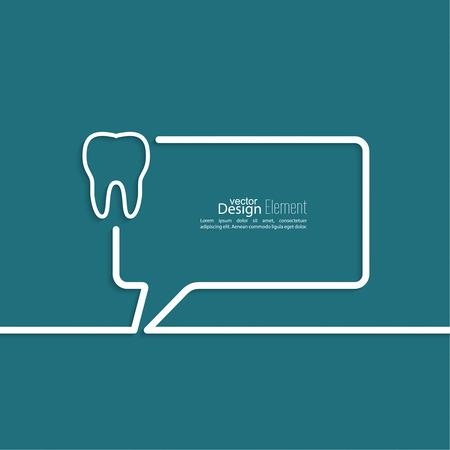 comunicacion oral: Resumen de fondo con el s�mbolo de las burbujas del discurso. Esquema. Ra�ces de los dientes, ficha dental