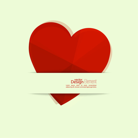 unusual valentine: Abstract background with heart. St. Valentine Day.Logo Medical Clinic, Cardiology. Symbol of love. Illustration