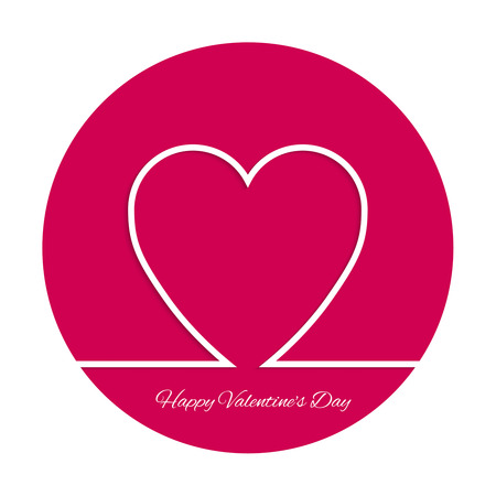 heart outline: Abstract background with heart. Outline. St. Valentine Day.