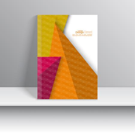 marca libros: La portada de revista con rayas, tri�ngulos y textura. Para el libro, folleto, folleto, cartel, folleto, folleto, dise�o de portada de CD, tarjetas postales, tarjetas de visita, el informe anual. ilustraci�n vectorial. resumen de antecedentes