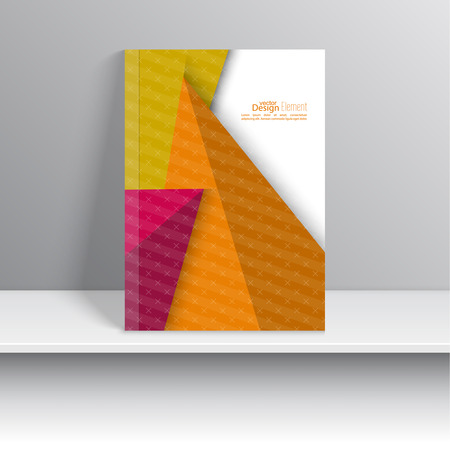 business book: Magazine Cover with stripes, triangles and texture. For book, brochure, flyer, poster, booklet, leaflet, cd cover design, postcard, business card, annual report. vector illustration. abstract background Illustration