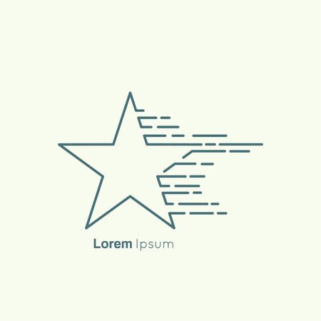 comet: Corporate icon template. icon flying stars. Comet.