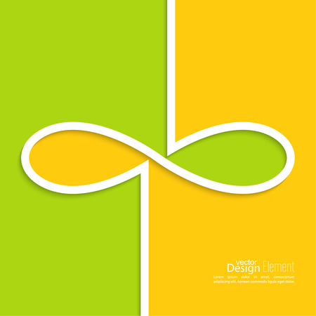 Abstract background with the sign of infinity. emblem endless. The concept of eternity.  For cover book, brochure, flyer, poster, magazine, website, app mobile, annual report