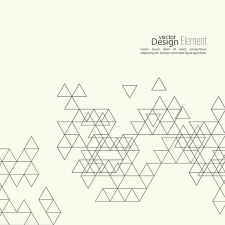 Twórczy streszczenie trójkąt wzór. Wielokątne tle mozaiki. Na książki, ulotki, okładki cd projektu, pocztówki, wizytówki, raportu rocznego. ilustracji wektorowych. abstrakcyjne tło Ilustracje wektorowe
