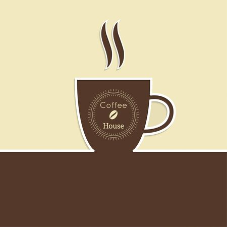 coffeehouse: Abstract background with a cup of coffee. Coffee for menu, restaurant, cafe, bar, coffeehouse.  Outline