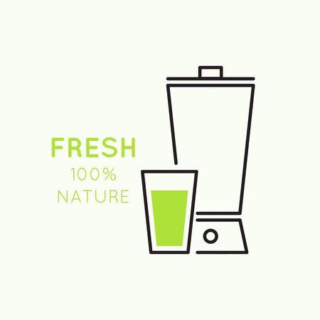 vaso de jugo: Blender con bebidas naturales reci�n preparados. �til, comida. jugo natural