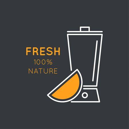 juicer: Blender with freshly prepared natural drinks. Useful, food. natural juice