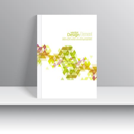 marca libros: La portada de revista con triángulos. Para el libro, folleto, folleto, cartel, folleto, folleto, diseño de portada de CD, tarjetas postales, tarjetas de visita, el informe anual. ilustración vectorial. resumen de antecedentes Vectores